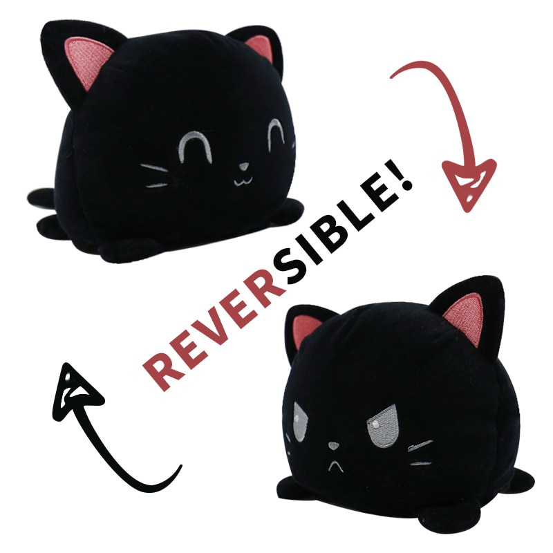 Funny Peluche Reversible Cat Gato Kids Plushie Plush Animals unicorn Double-Sided Flip Doll Cute Toys For Pulpos