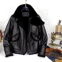 native sheep fur one reinforcing calfskin leather male winter to keep warm jacket both for man and women can wear