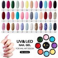 COSCELIA 36 colores UV Gel manicura Set Kit de uñas para manicura Gel UV para arte de uñas conjunto de uñas todo para manicura acrílico Kit de uñas
