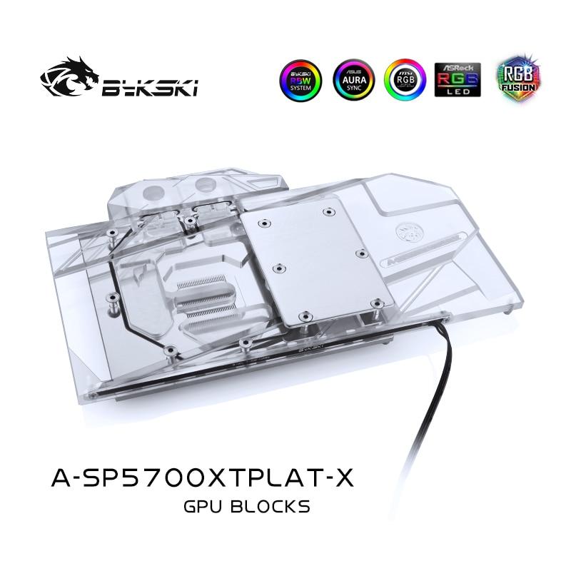 Bykski A-SP5700XTPLAT-X وحدة معالجة الرسومات كتلة تبريد المياه لالياقوت راديون RX 5700 XT نيترو + الكمبيوتر عنصر تبديد الحرارة