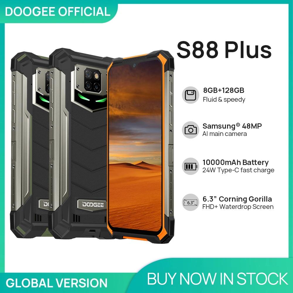 DOOGEE S88 Plus Rugged SmartPhone 48MP Main Camera 8GB RAM 128GB ROM IP68/IP69K smart phone Android 10 OS Global version