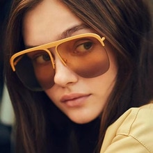 2021 New Fashion Vintage Oversized Alloy Square Sunglasses For Women Luxury Brand Gradient Elegant G