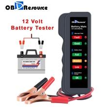 Цифровой анализатор напряжения BM310, тестер для аккумуляторов 12 В, светодиодный индикатор для мотоциклов, проверка напряжения автомобильного генератора переменного тока