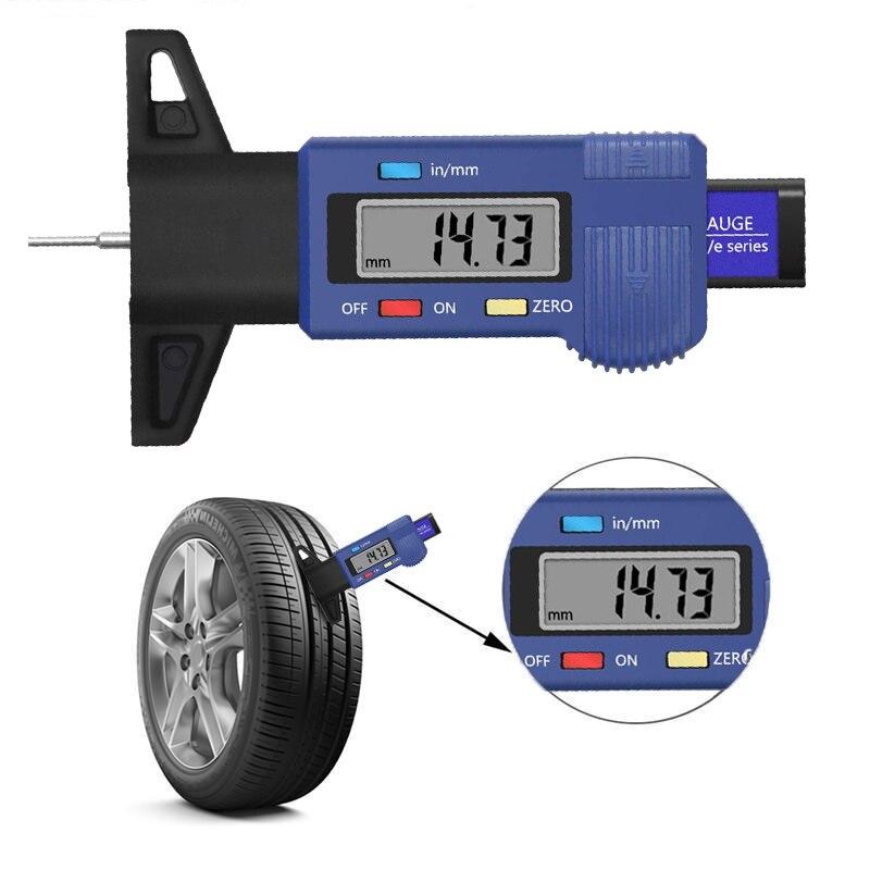 car digital tyre tire tread depth tester gauge 0 25 4mm meter measurer tool caliper lcd display tpms tire monitoring system High Precision Digital Tire Tread Depth Gauge Meter Measurer Tool Caliper Thickness Gauges Digital Car Tire Tread Depth Gauge