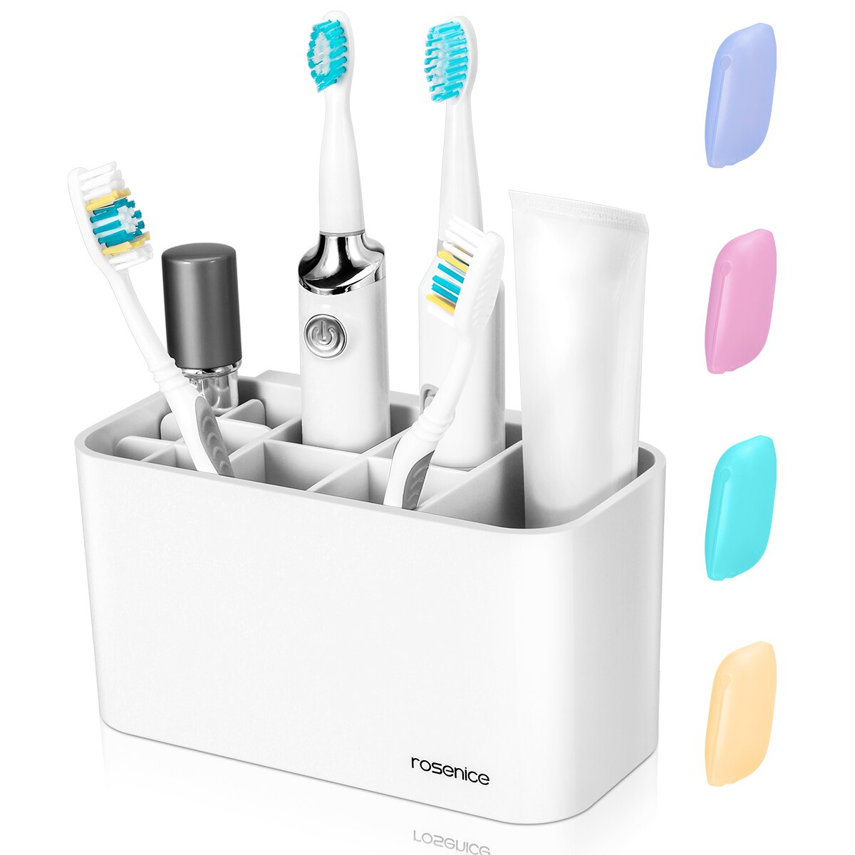 Soporte para cepillo de dientes ROSENICE, soporte multifuncional para cepillo de dientes, estante para pasta de dientes, organizador para inodoro para baño A30