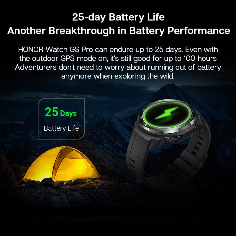 New Global Version Honor Watch GS Pro Smart Watch 1.39'' AMOLED Screen Heart Rate Monitoring Blood Oxygen Bluetooth Call 5ATM