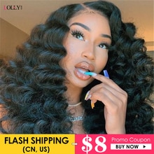 Loose Deep Wave Lace Front Wig Brazilian Transparent Lace Closure Wig 13x4 Lace Front Wigs For Black