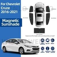 for chevrolet cruze sedan j400 2016 2019 magnets folding car sunshade front rear side window sunscreen net shading curtains