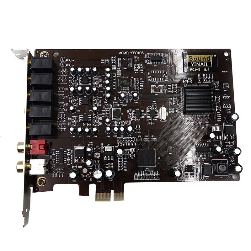 بطاقة صوت إبداعية PCI-E 5.1 ، PCIE 5.1 PCIE (SN0105/Sb0105) ، لـ XP WINDOWS 7/8/10