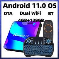 Приставка Смарт-ТВ RK3318, Android 11,0, 4 + 128 ГБ, 5,8 ГГц, Wi-Fi