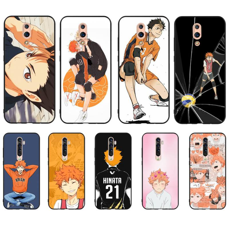 Gorąca Haikyuu Hinata Anime siatkówka etui telefon dla OPPO A5 A9 A5S A1K A37 F7 F5 F9 RealmeX C2 C3 X2PRo XT 3 5 6Pro Reno2Z