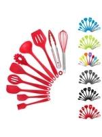 silicone kitchenware non stick cookware cooking tool set handle cooking kitchenware tools set bpa free kitchen tool accessories