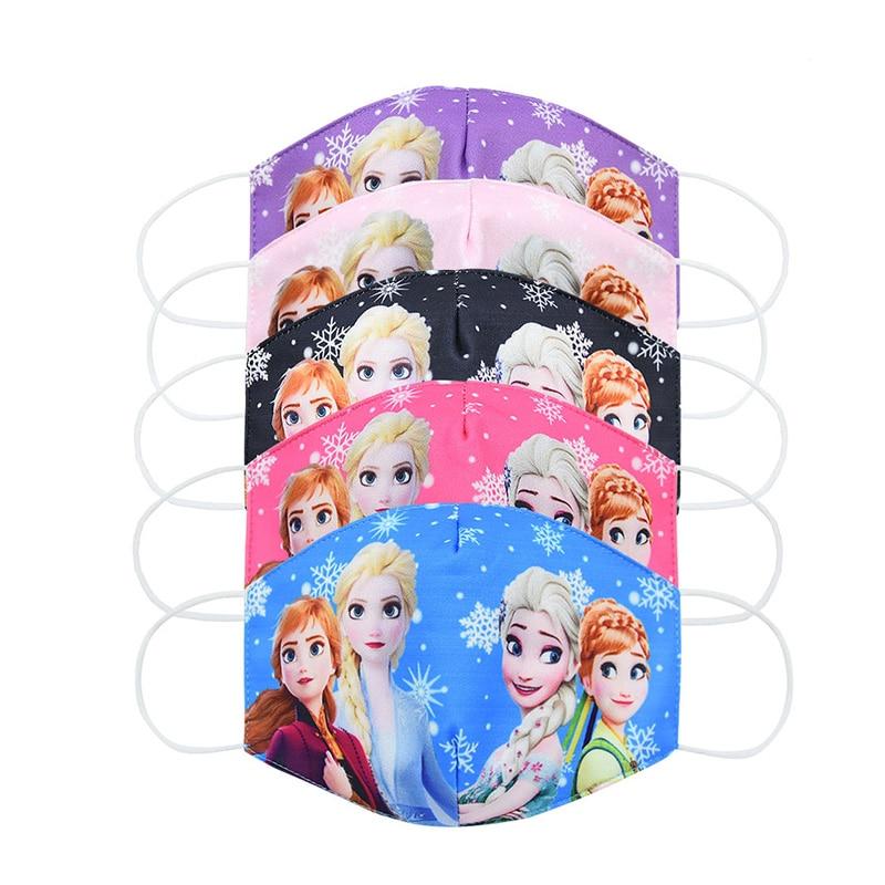 Disney reine des neiges visage enfant Maks lavable la reine des neiges 2 Elsa Anna Olaf coton Anti-poussière protection Maks pour garçons fille jouets