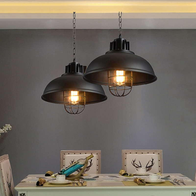 Vintage lámpara colgante para loft retro droplight, comedor pasillo dormitorio pub café restaurante jaula Luz de araña colgante Accesorios