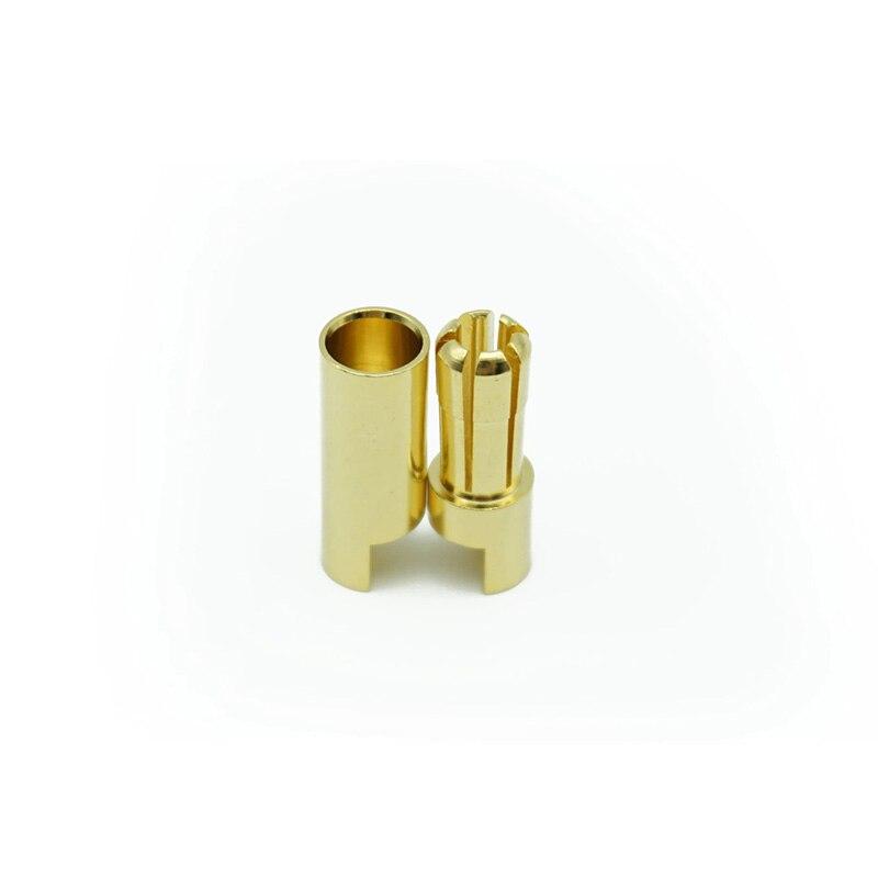 Conectores de banana especiais de 5.5mm fêmea masculina 5 pares conectores de plugue banhado a ouro esc encaixe flipsky