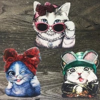 cartoon cat 3d patch iron used for diy decoration of clothing cute cats sewn decals on childrens clothes