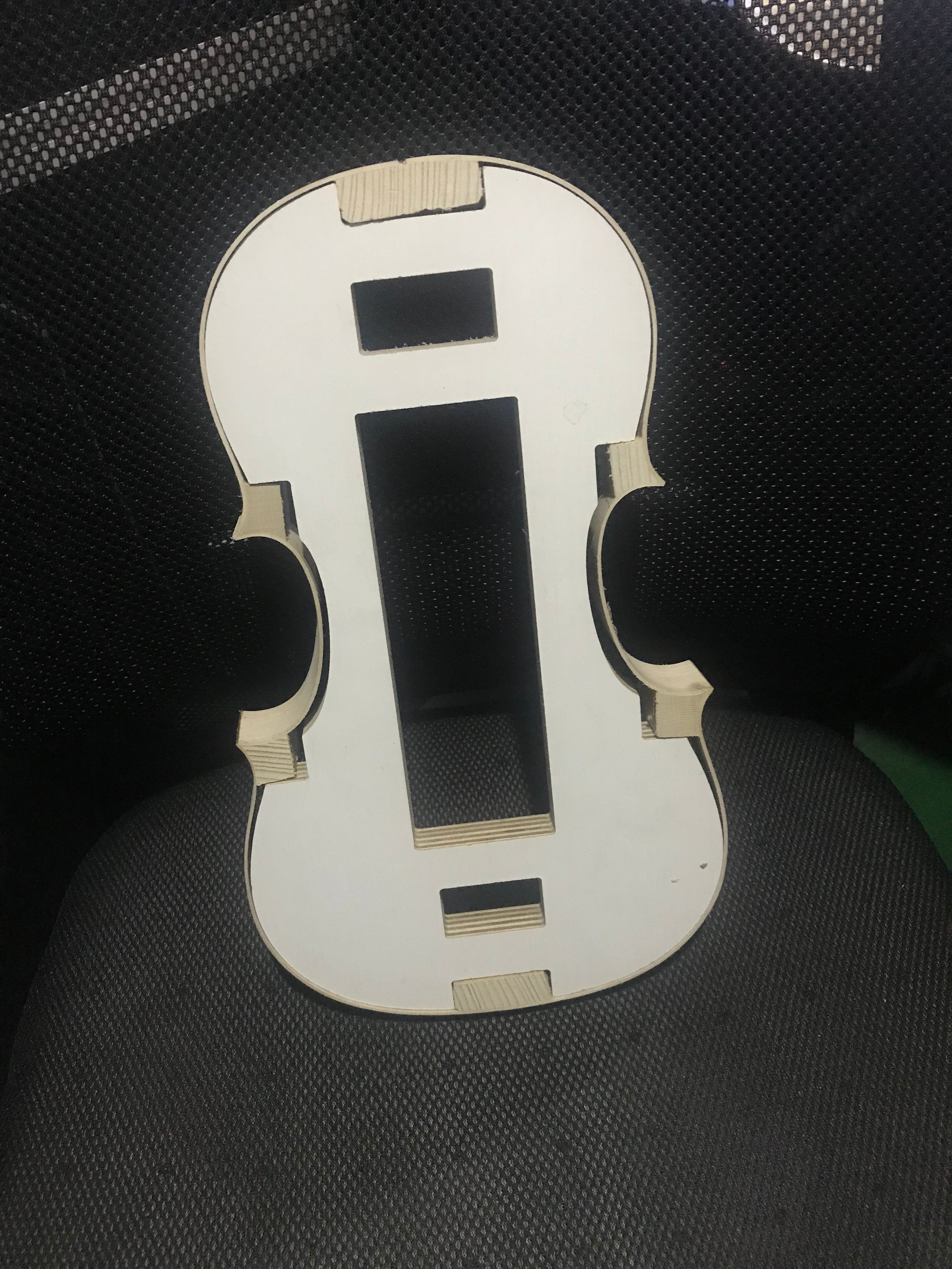 1 Pcs 4/4 Violin Templet Mold Neck / F Hole Templet Violin Making Tool For Luthier enlarge