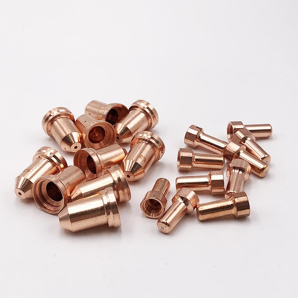 PT-80 PT80 PTM80 IPT80 IPT-80 Backstrike 52558 Electrode 25pcs+51311 Nozzle 25pcs PT80  Consumable for Plasma Cutting Torch