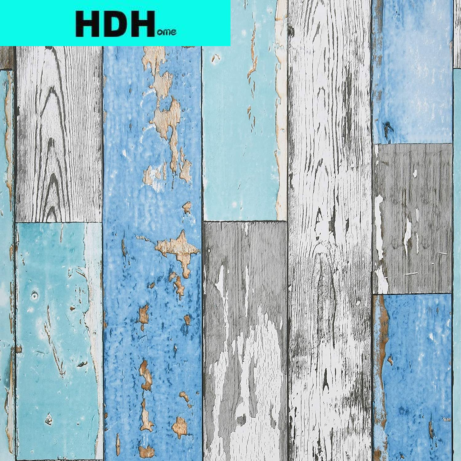 Wood Plank Wallpaper Blue Distressed Wood Wallpaper Peel and Stick Wood Grain Contact Paper Vintage for Furniture Bedroom Decor brown wood papers wood peel and stick wallpaper removable wood grain self adhesive vintage distressed wood grain renovated paper
