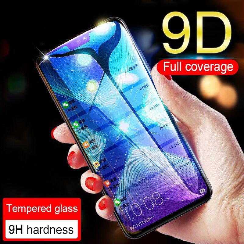 Pegamento completo, funda de vidrio templado Honor 7a 7c Pro 7x7s, cristal para Huawei Honer Onor 7 A C X S, película protectora, Protector de pantalla 9d