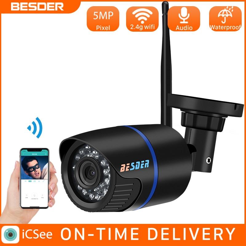 IP-камера BESDER уличная водонепроницаемая, 5 МП, 2 Мп, Wi-Fi, слот для SD-карты
