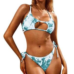 2020 Tie dye Swimsuit Women Bikinis Summer Bikini Set Push up Swimwear female Fashion Sexy Swimming Suit