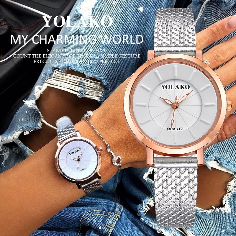 YOLAKO Women Watches 2020 Fashion Luxury Ladies Watch Casual For Women Watch Clock Montre Femme zegarek damski relogio feminino reloj hombre luxury women watches diamond ladies watch casual quartz wristwatch for women clock relogio feminino montre femme