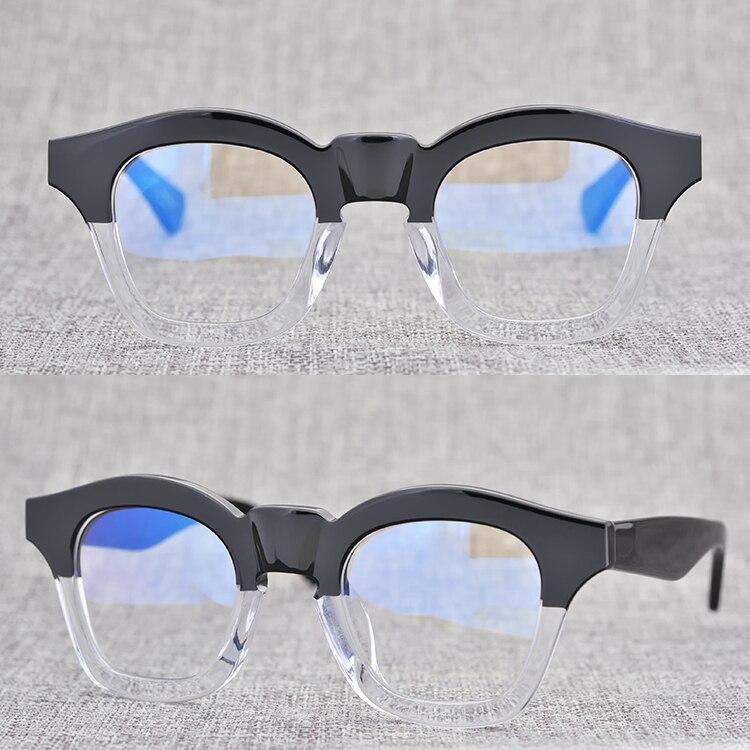 Gafas de acetato gruesas y sólidas de alta calidad, gafas originales de Japón de calidad artesanal, Vidrios Decorados de gran tamaño y cara grande para artistas