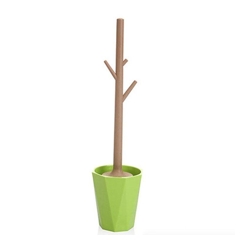 Set creativo de cepillos de baño en forma de árbol, cepillo de baño desmontable, cepillo de baño, limpiador de cepillos de baño, verde, cálido