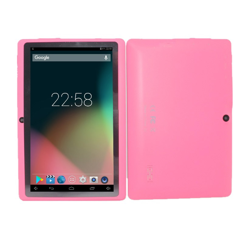 Q88 PRO 7 pulgadas Allwinner A33 Tablet Quad core 512MB + 8GB Android 4,4 Tablet PC 1024*600 Cámara Dual Bluetooth