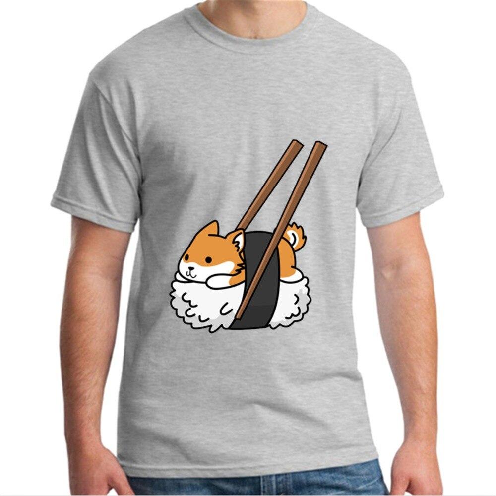 Novedad de 2019, ropa de marca a la moda, Linda camiseta Shiba Inu Sushi, camiseta Doge Doggo Meme, camiseta