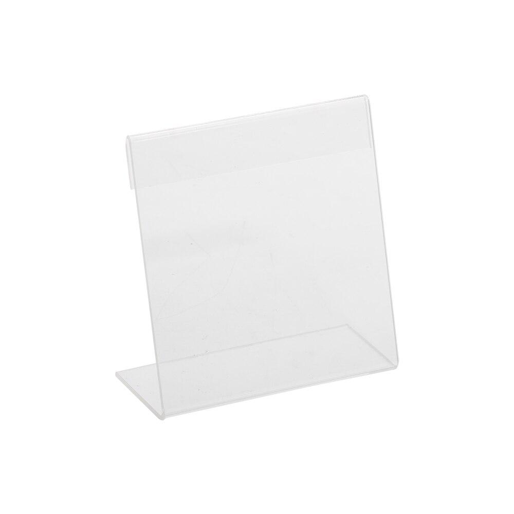 Пластиковая акриловая полка для супермаркетов, прямоугольная l-образная, 10 х10 см, держатель для этикеток, демонстрационная подставка для ст...