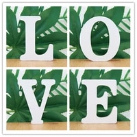 1pc 10cmx10cm white wooden letter english alphabet diy personalised name design art craft free standing heart wedding home decor