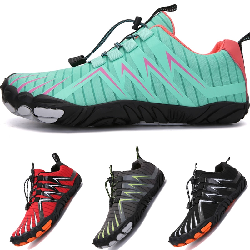gomnear breathable mesh water shoes male outdoor swimming beach shoes big size anti skid sports trekking shoes summer sneakers Men Barefoot Diving Swimming Water Shoes Outdoor Sports Breathable Beach Wading Shoes Male Aqua Seaside Sneakers