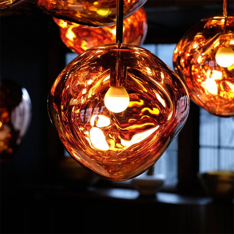 Modern novelty art deco glass pendant light LED E27 with 3 colors for living room bedroom restaurant kitchen cafe hotel office  - buy with discount