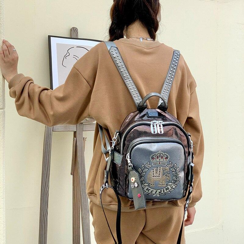 جديد Ins العصرية بولي Soft حقيبة جلدية لينة النسخة الكورية من الطباعة ذات سعة كبيرة الموضة حقيبة كتف حقيبة السفر