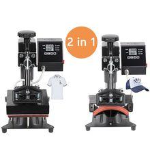 2 en 1 numérique Double affichage capuchon presse à chaud Machine 15x15CM Logo imprimante bricolage Sublimation imprimante étiquette Machine dimpression