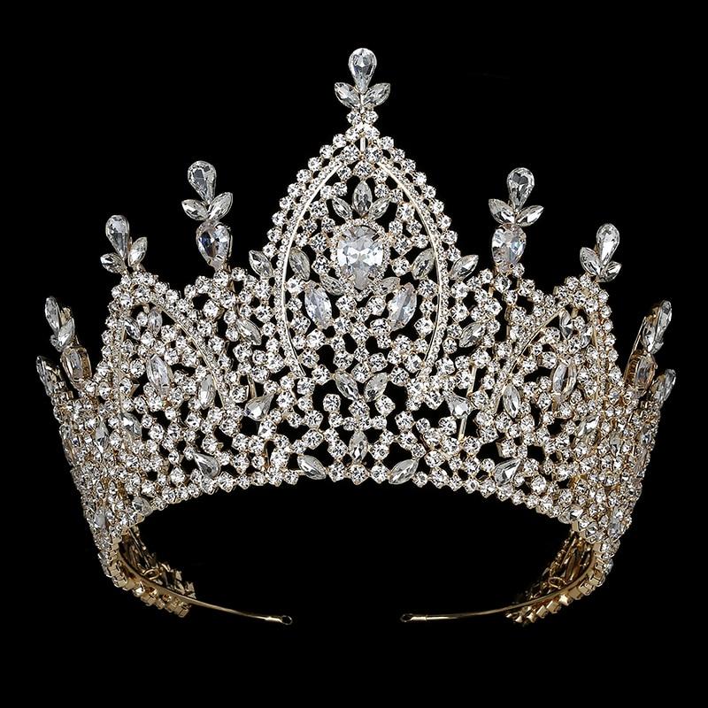 Hadiyana New Luxury Tiara Bridal Crown for Women 2019 Wedding Hair Accessories Royal Zirconia Imperial Crowns Jewelry BC3200