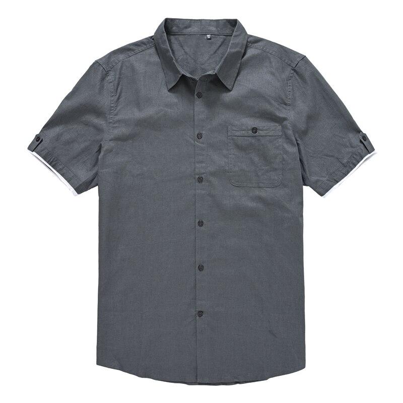 Men's Shirts Short Sleeve Summer Clothes Man 2021 Oversized Big Plus Size Linen and Cotton Flax 10XL  T Shirts Men
