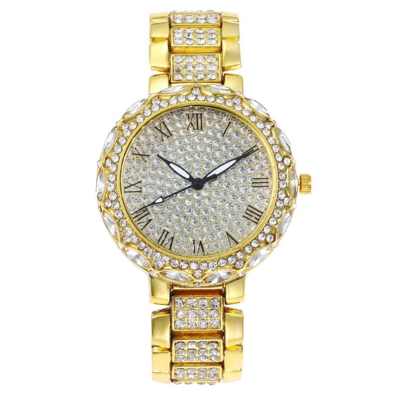 MREURIO Women Watch Romantic Starry Sky Full Diamond-Studded Vintage Romen Bracelet Wrist Watch for Women Luxury Quartz Watch enlarge