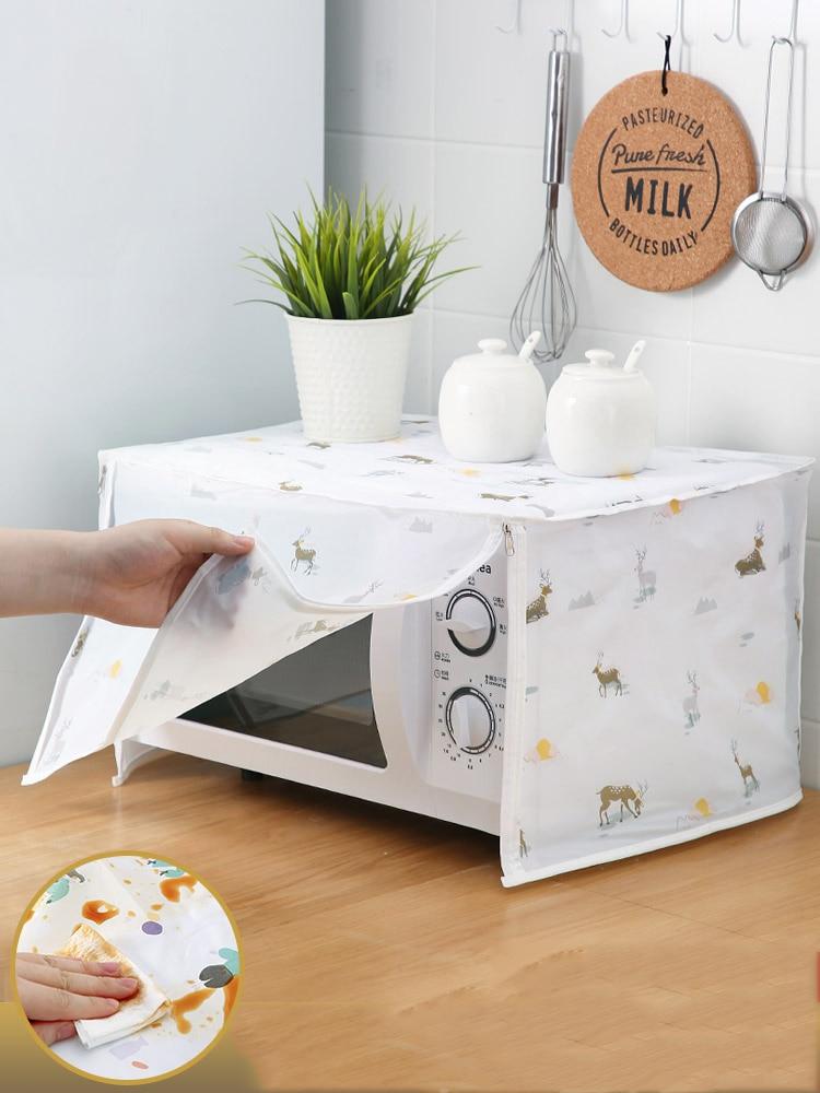 À prova dwaterproof água graxa saco de armazenamento acessórios de cozinha capas de poeira de óleo capa de microondas microondas forno capa de microondas