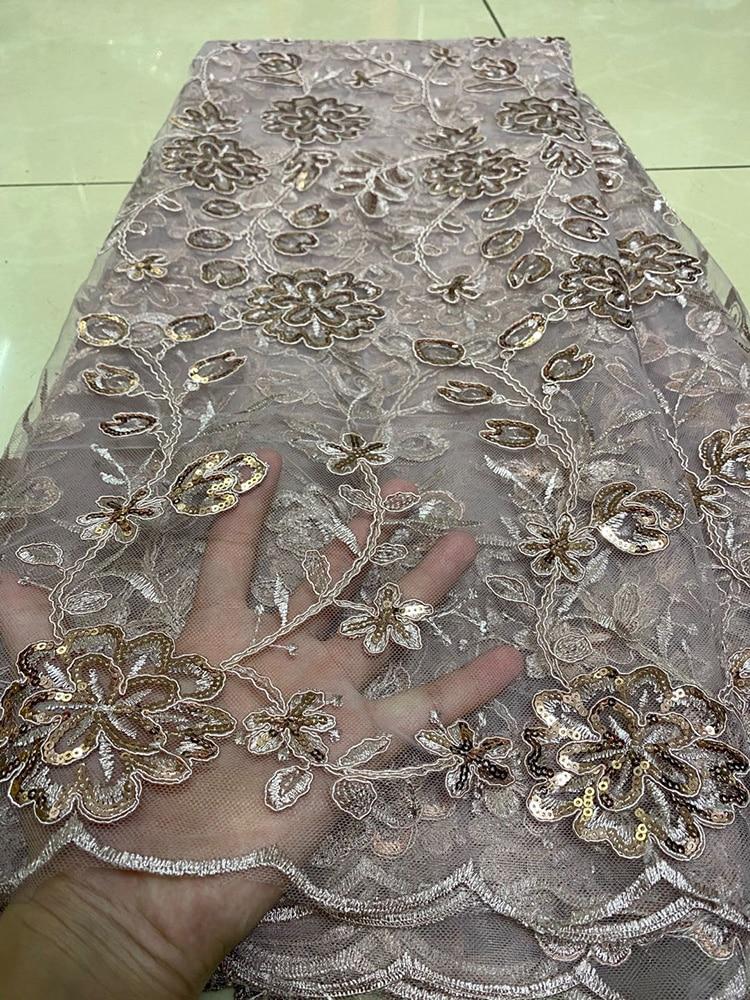 Nuevo diseño 2020, guipur de alta calidad, encaje de lentejuelas rojo nigeriano, tela de encaje de lentejuelas africanas para boda, encaje de malla de tul francés para fiesta