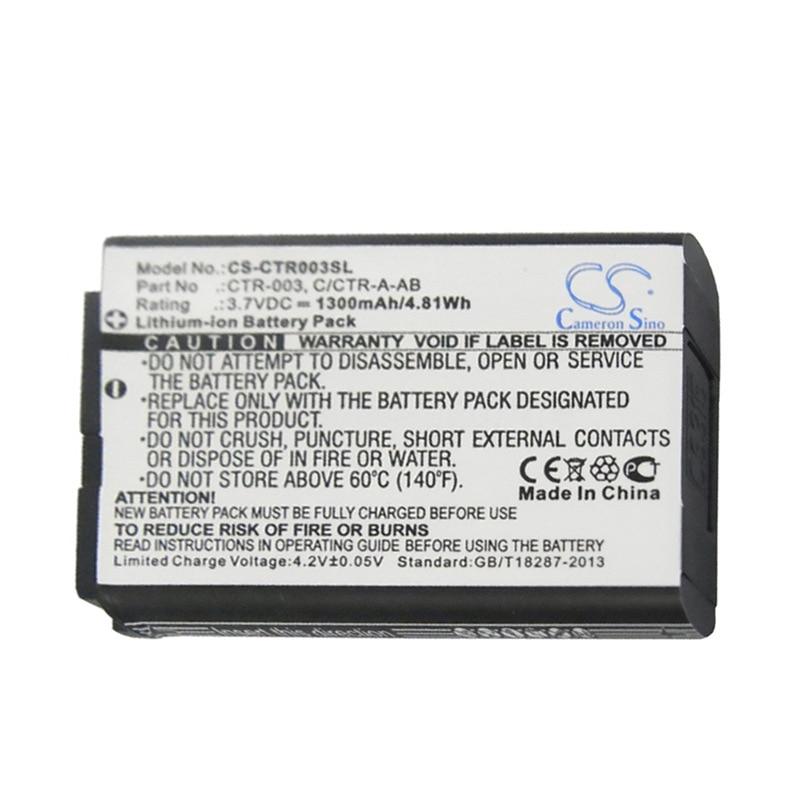 Cameron sino 1300 mah bateria para nintendo 3ds, CTR-001,MIN-CTR-001, n3ds, c/CTR-A-AB,CTR-003
