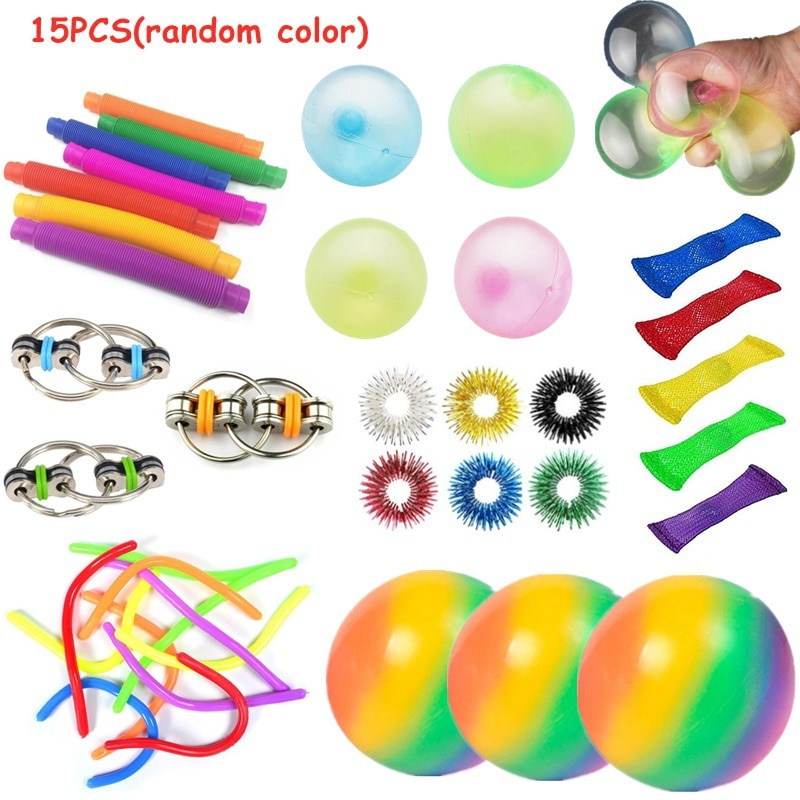 Sensory Toy Set Stress Relief Toy Autism Anxiety Relief Stress squeeze Bubble Antistress Toys Fidget Sensory Toy For Kids Adults enlarge