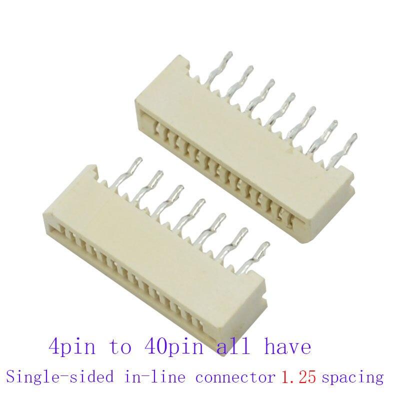400 قطعة FFC FPC موصل 1.25 مللي متر أطقم كل حجم 20 قطعة 4p 5p 6p 8p 10p 12p 14p 16p إلى 40p مضمنة