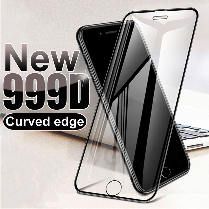 999D Curved Protective Glass For iPhone 7 8 6 6S Plus SE 2020 Glass Screen Protector iPhone X XS 11