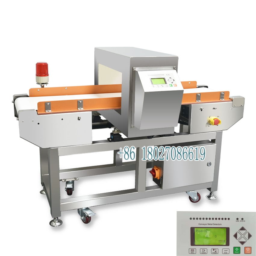 Setting tunnel parameters metal detector machine for food industry enlarge