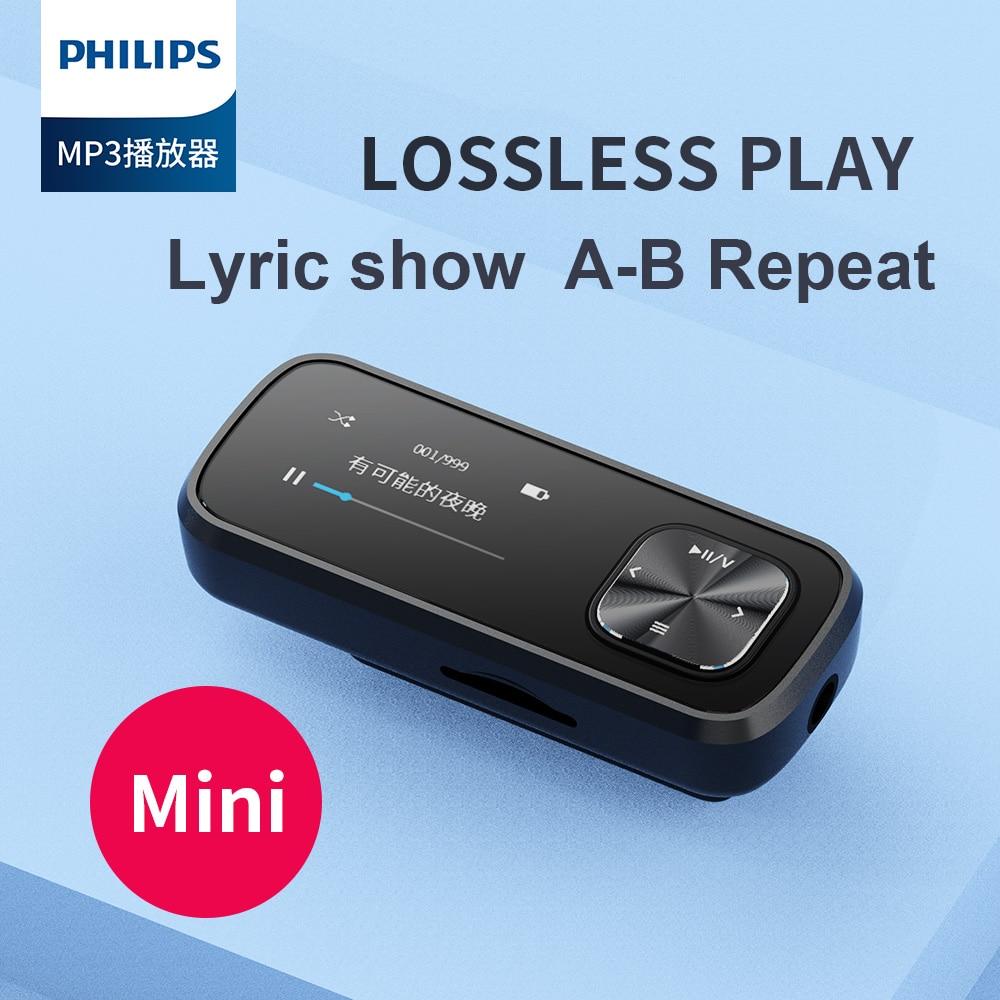 فيليبس الأصلي SA1102 تشغيل A-B تكرار تسجيل كليب صغير مشغل MP3