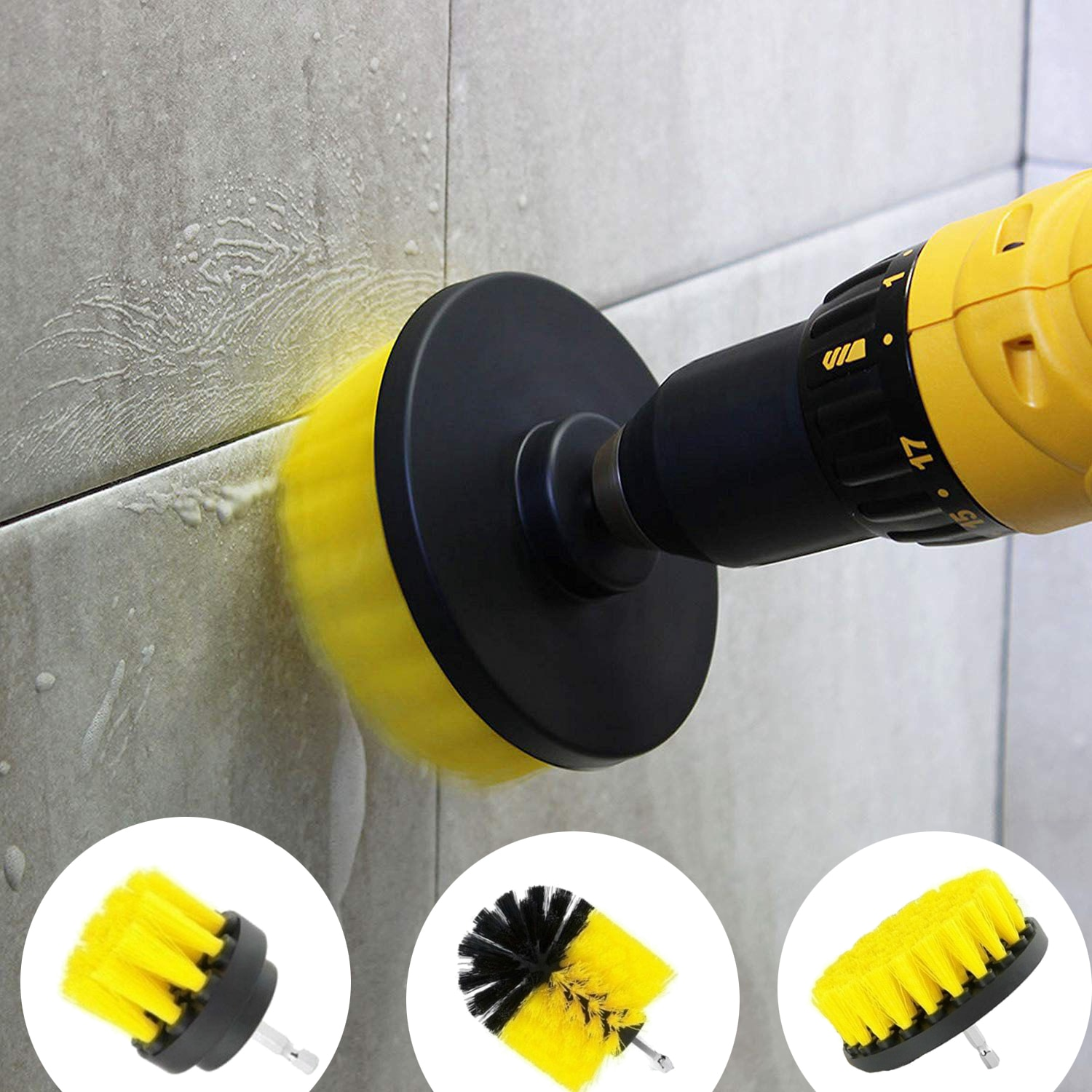 Drill Brush All Purpose Cleaner Scrubbing Brushes for Bathroom Surface Grout Tile Tub Shower Kitchen