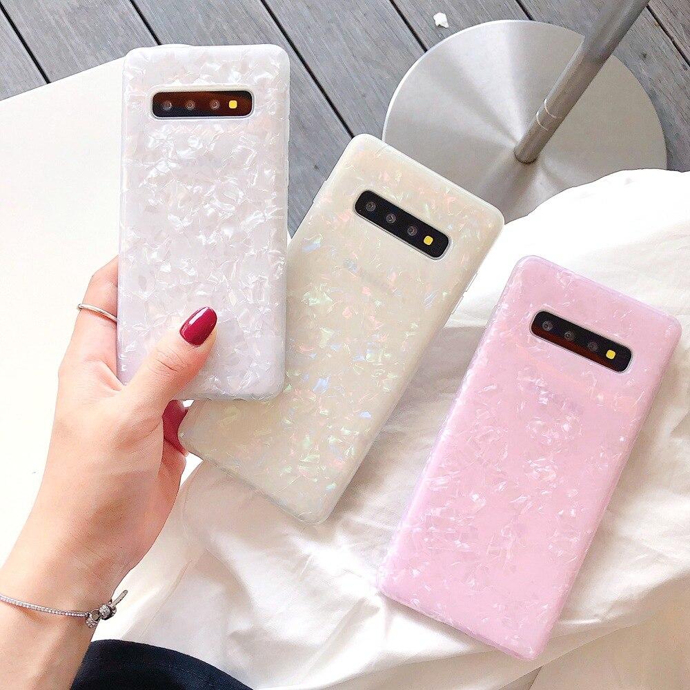 10 unids/lote de perlas para Samsung S8/S9/S10Plus Note8 Note9 Note10pro S10Edge Soft TPU Handphone Cover protección de la piel del teléfono